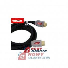 Kabel HDMI 2.5m v2.0 Ultra 28awg HDK60 Vitalco