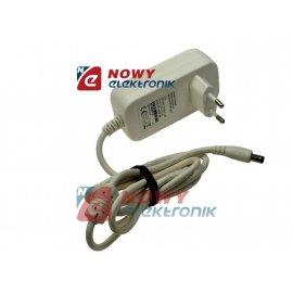 Zasilacz ZI 12V/1A       2.1/5.5 wtyczkowy biały