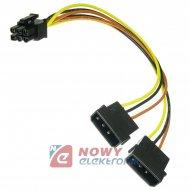 Kabel PCI-E Power 6pin/molex x2 ICIDU
