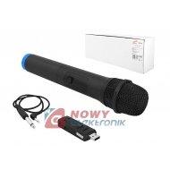 Mikrofon bezprzew. MIC01 UHF 738,6MHz 1 mik. do ręki UHF