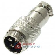 Gniazdo męskie NC515(4-M) na kab CB 4p wtyk prosty na kabel