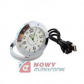 Kamera w zegarku biurkowym zegar szpiegowski z kamerą
