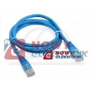Kabel LAN kat.6 UTP 1,5m niebies