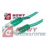 Kabel LAN kat.6 UTP 1,5m zielony
