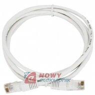 Kabel LAN kat.5e UTP 1m biały ICIDU