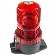 Sygnalizator bł. LED 10-110V DC czerwony błyskowy  12V/24V/48V