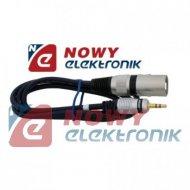 Kabel Jack 3,5m. wt.-wt.XLR 3m st./kabel mikrof. MK31 Vitalco