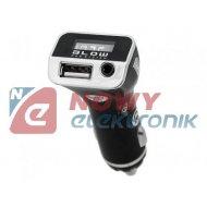 Transmiter FM BLOW + Ładow. 2,1A USB/
