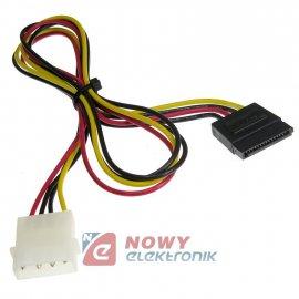 Kabel HDD SATA zasilający 0.65m ICIDU