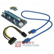 RISER PCI-E do kart graficznych NEPOWER v.006c USB3.0