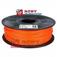 Przewód PLA 3mm pomarańczowy1kg filament surowiec drukarka 3D