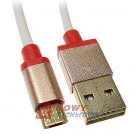 Kabel USB-Micro USB 1m double 2.4A sided dwustronne wtyki NEPOWER