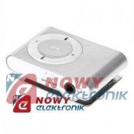 Odtwarzacz MP3 QUER z czyt.sreb z czytnikiem kart srebrny