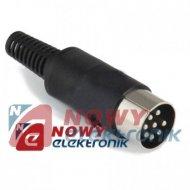 Wtyk DIN 8p na kabel WMW845-000-00P