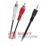 Kabel jack 2,5st-2*RCA 1,5m