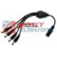 Rozdzielacz DC zasil.12V 1weX4wy na kablu 2.1/5.5