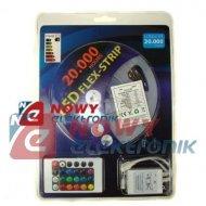 Taśma LED ZESTAW 5050 RGB 5m/150 LED + zasilacz