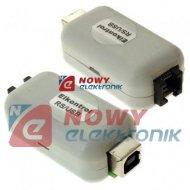 Konwerter RS232 opto USB m.in. do systemu ELKONTROL 3000 moduł