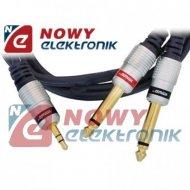 Kabel jack 3,5st-2*wt.6,3 mono 1m DIGITAL VITALCO  do mixera