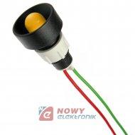 Kontrolka LED FI-10/12V-24V żół. AC/DC