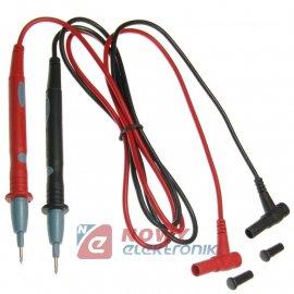 Kable pomiarowe PP601 10A 1000V kat.III  przewody pom. miern.