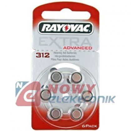 Bateria AE312 Rayovac  PR312H Do aparatów słuchowych