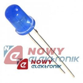 Dioda LED 5mm niebieska 430nm L-53MBDL dyfuzyjna