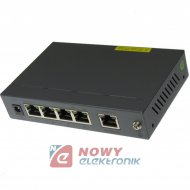 Switch PoE 5wejśc 4xPoE VSS     100mb do kamer IP VSS04POE1 VISAR