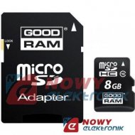 Karta pamięci micro SDHC 8GB God Class 10 UHS z adapt. SD GOODRAM
