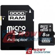 Karta pamięci micro SDHC 8GB God Class 10 UHS z adapt. SD GOODRAM