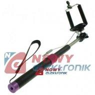 Monopod wysięgnik z kablem GPXX kijek selfie/smartphone uchwyt