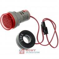 Kontrolka LED amperomierz czerwo 22mm 100A min 0,6A 150W, 20-500VAC
