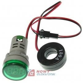 Kontrolka LED amperomierz zielon 22mm 100A min 0,6A 150W, 20-500VAC