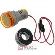 Kontrolka LED amperomierz żółty 22mm 100A min 0,6A 150W, 20-500VAC
