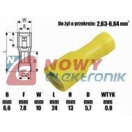 Gniazdo płaskie iz. KFIY-6.3x0.8 konektor f6.3mm