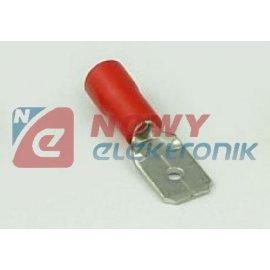 Konektor M 6.4 długi + zaczep kwadrat, przewód 3mm 6.4x0.8