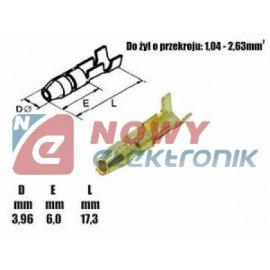 Konektor okr.4mm M nieizol. męski przewód 0.5-1.5mm