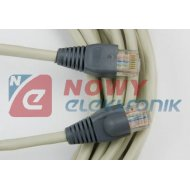 Kabel LAN kat.5e UTP 3m szary, czarny