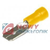 Konektor M KMY-6.4*0.8 żółty męski