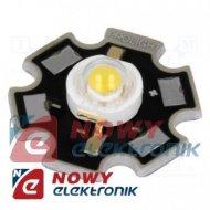 Dioda LED 3W Ultrafiolet GWIAZDA star jasn.390-410lm 130° 3,7V 700mA
