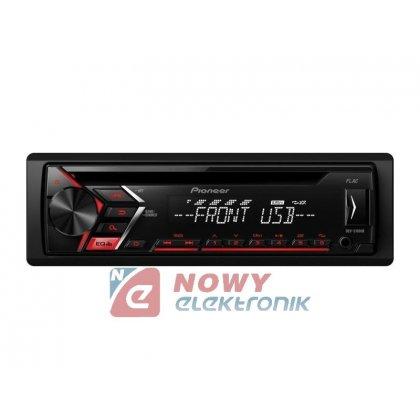 Radio samoch.PIONEERMVH-S100UB USB czerwone