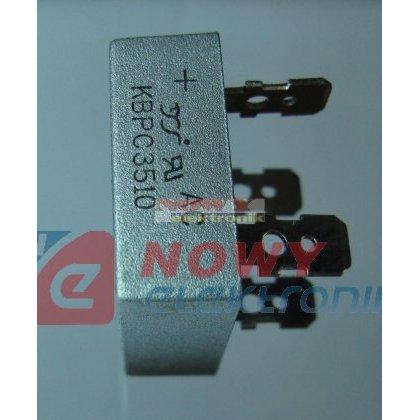 Mostek 35A 1000V KBPC3510 konektorowy
