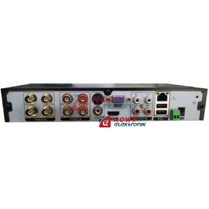 Rejestrator HD-AHD AHR-812 1080p 720p 8-kan. Audio 4ch/1ch