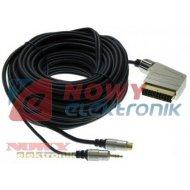 Kabel SCART-SVHS+wt.3,5 15mD DIGITAL Złoty