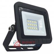 Halogen LED 10W czarny SLIM 6000 K 750lm Biały dzienny