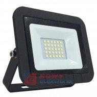 Halogen LED 20W czarny SLIM 6000 K 1500lm Biały zimny