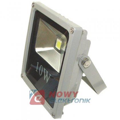 Halogen LED 10W szary SLIM zimny 6000K COB IP65 Biały zimny