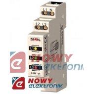 Wskaźnik zasilania LED LKM-01-40 230/400V AC 3-FAZ ZAMEL DIN