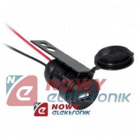 Gniazdo USB do montażu 12/24V 1A ładowarka z klapką