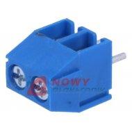 Listwa ARK350-2 listwa 2 pola r-3.5 niebieska do 1.5mm2